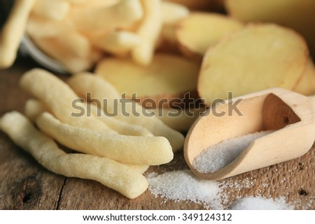 French fries with fresh potatoes