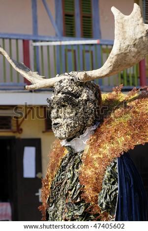 French Guiana's Annual Carnival February 14, 2010 - stock photo