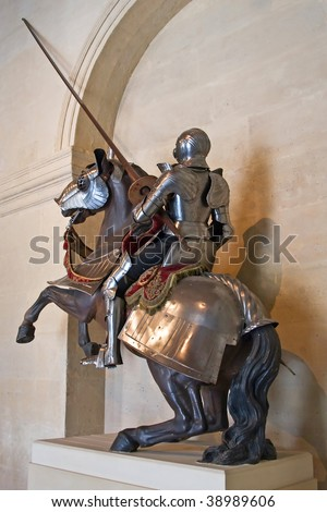 French King's armor in historical museum - stock photo