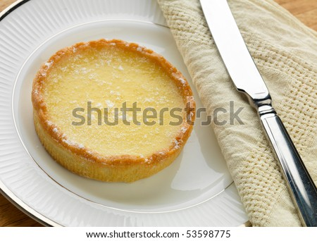 French lemon tart - stock photo
