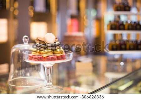 french macarons for sale - stock photo