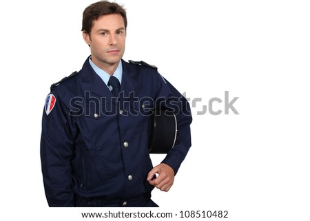 French policeman - stock photo