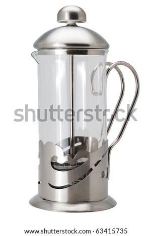 White French Press Coffee Maker : French Press Stock Vector 317891579 - Shutterstock