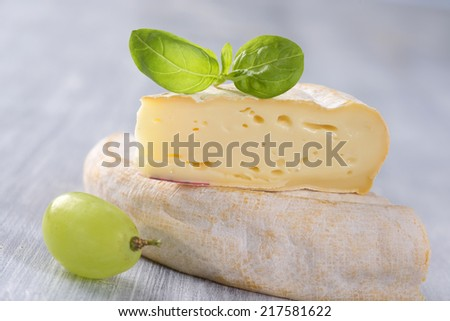 French Reblochon cheese - stock photo