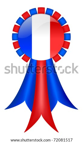 French Ribbon - stock photo