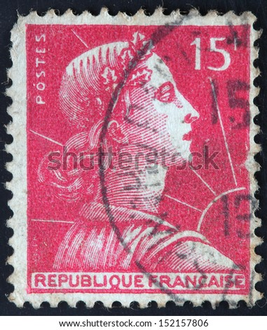 French stamp from France (in European Union) - stock photo