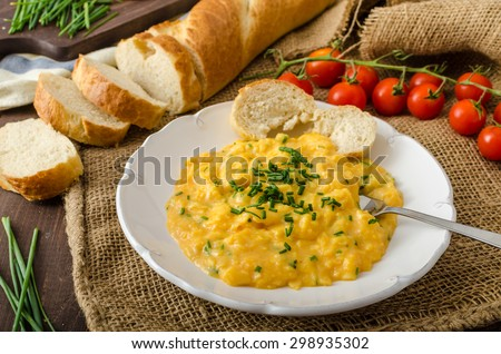 Traditional arabic sauce hummus fresh vegetables stock for French style scrambled eggs