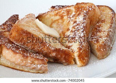 french toast with butter - stock photo