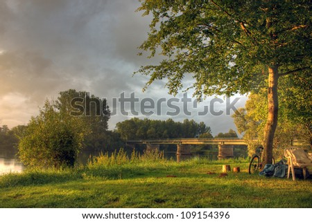 French view at Baume, Burgundy - France - stock photo
