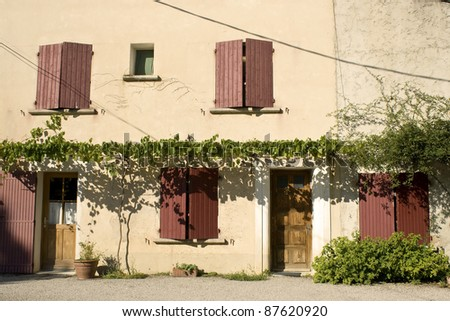 French Village typical  house from Provence.
