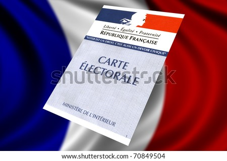 French voter card - stock photo