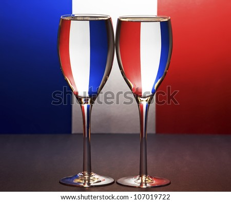 French Wine - stock photo