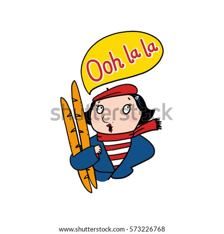 french woman saying ooh la la stock illustration 573226768 rh shutterstock com