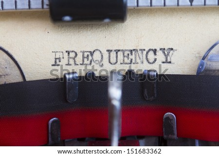 Frequency abstract printed in a vintage paper . - stock photo