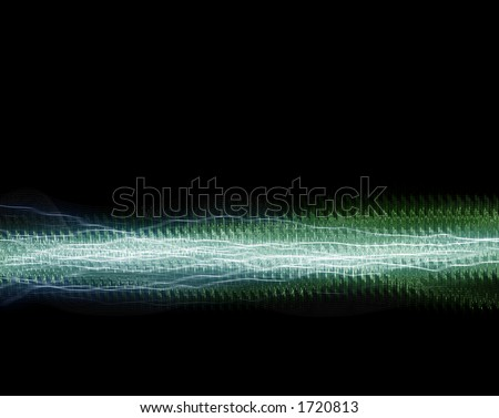 Frequency Waveforms - stock photo