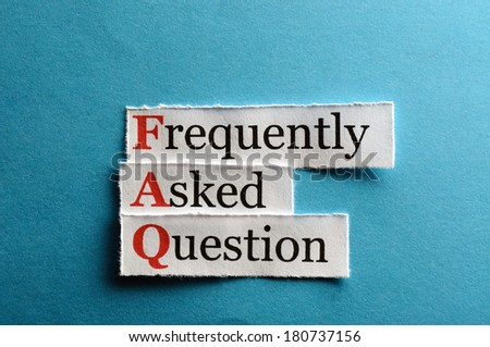 frequently asked question (FAQ) concept for website service on paper - stock photo