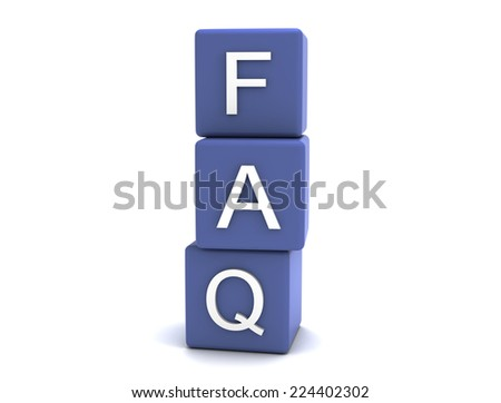 Frequently Asked Questions - stock photo