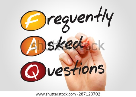 Frequently Asked Questions (FAQ), business concept acronym - stock photo