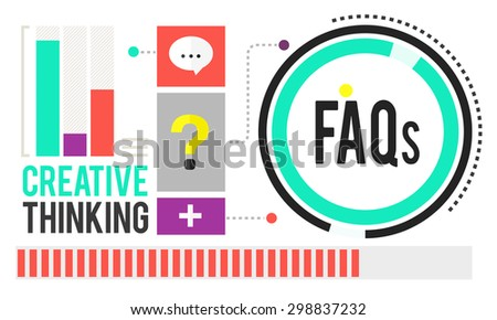 Frequently Asked Questions FAQ Problems Concept - stock photo