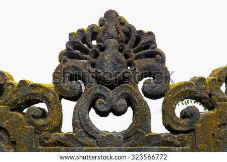 Fresco Hindu temple complex in Bali, indonesia - stock photo