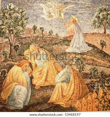 Fresco in Vatican museums - stock photo
