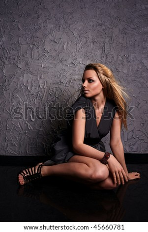 Fresh and beautiful young fashion model - stock photo