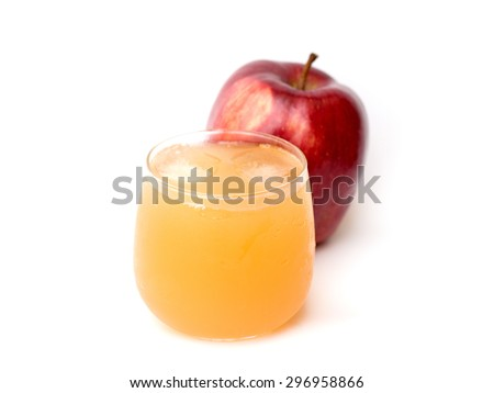 fresh and healthy natural apple juice and apples - stock photo