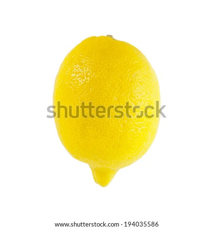 Fresh and juicy Lemon  or citron citrus  with water drops isolated on white background - stock photo