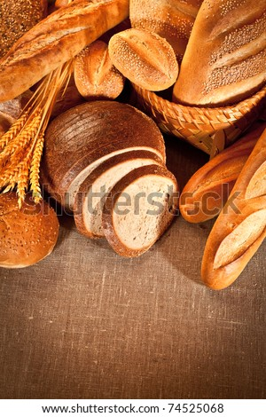 Fresh and soft tasty bread - stock photo