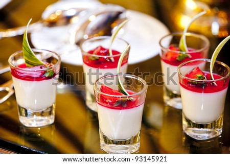 fresh and sweet dessert cakes - stock photo