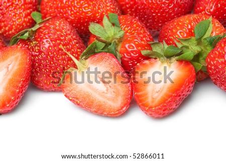 Fresh and tasty strawberries - stock photo