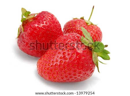 Fresh and tasty strawberries isolated on white background