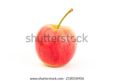 Fresh apple fruit on white background