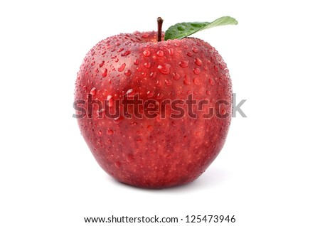Fresh apples - stock photo