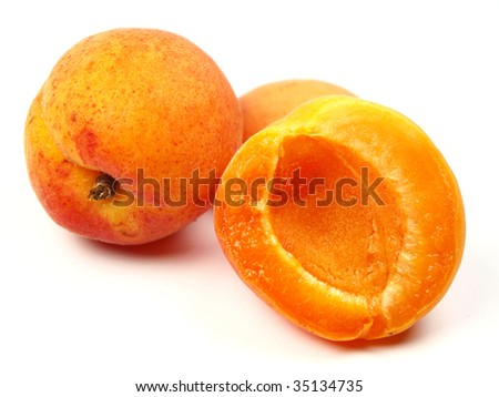 fresh apricot fruits