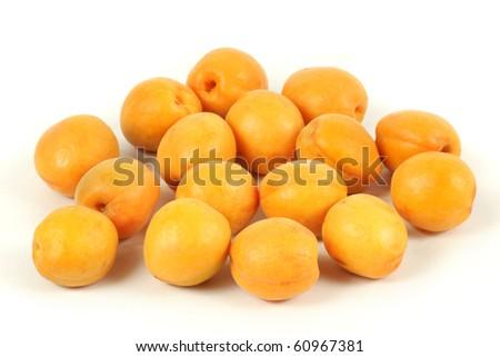 Fresh apricot isolated on white background - stock photo
