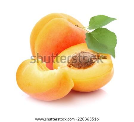 Fresh apricots - stock photo