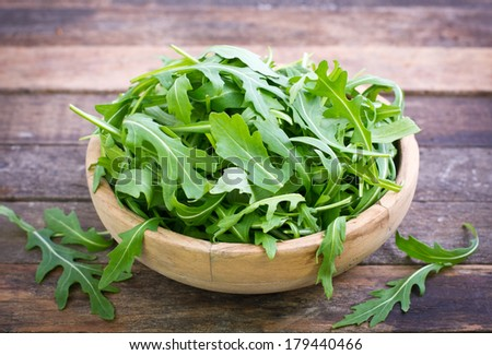 Fresh arugula salad - stock photo