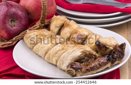 Fresh baked apple strudel - stock photo