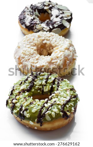 fresh baked donuts - stock photo