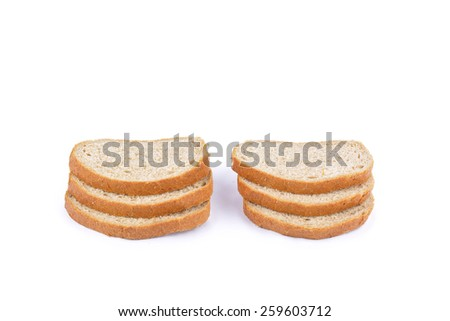 fresh baked from grain bread isolated on white - stock photo