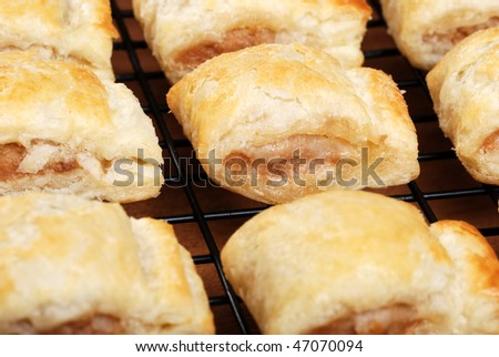fresh baked sausage rolls