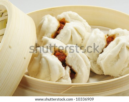 Fresh BBQ Pork Buns - stock photo