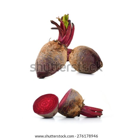 Fresh beetroot collection - stock photo