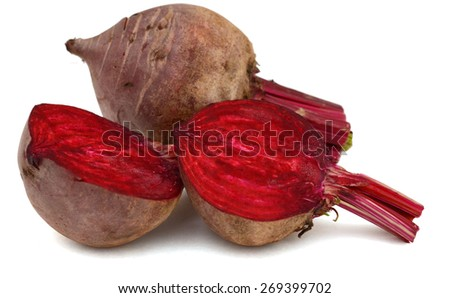 fresh beets on white background  - stock photo