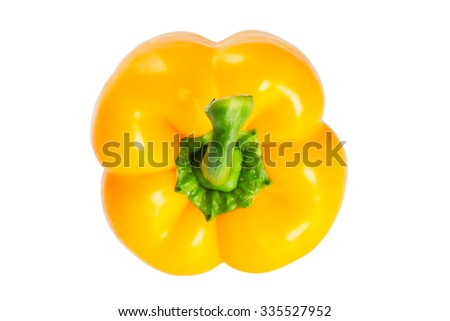 Fresh bell pepper isolated on white background  - stock photo