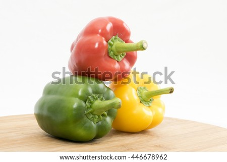 Fresh Bell Pepper isolated on white background
