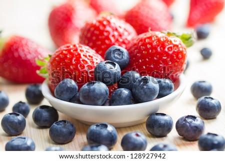 fresh berries - stock photo