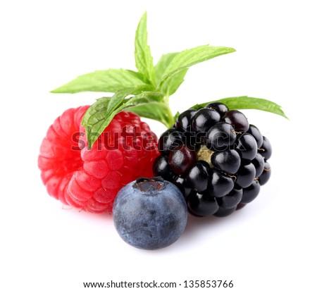 Fresh berries with mint