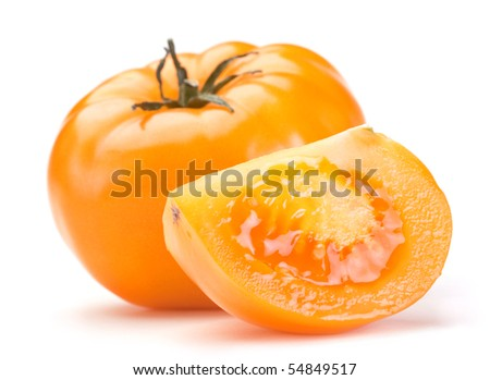 Fresh big tomato vegetable on white background
